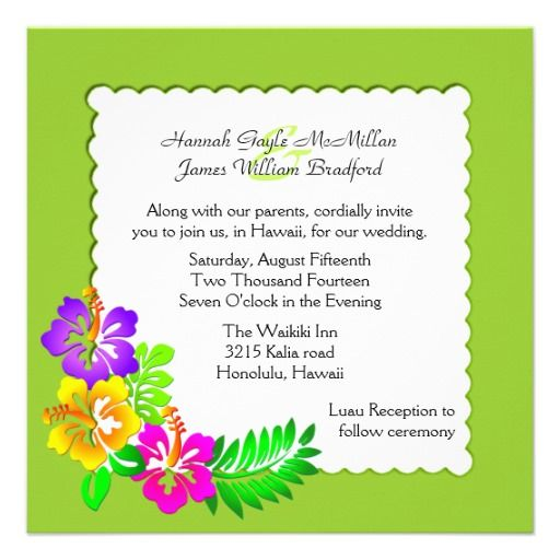 DealsColorful Hawaiian Tropical Wedding InvitationYes I can say you are on right site we just collected best shopping store that have