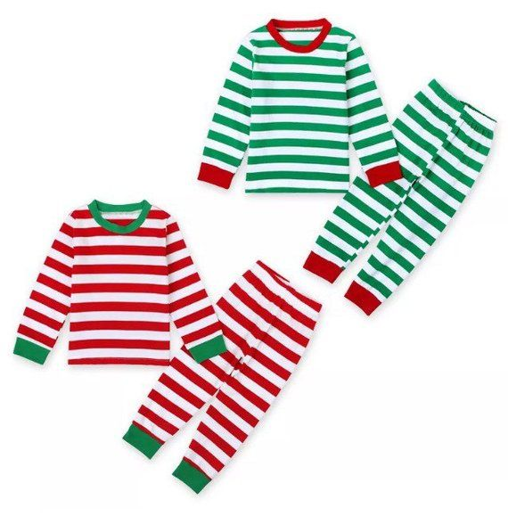 a9d251245 Striped Christmas Pajamas- Red or Green