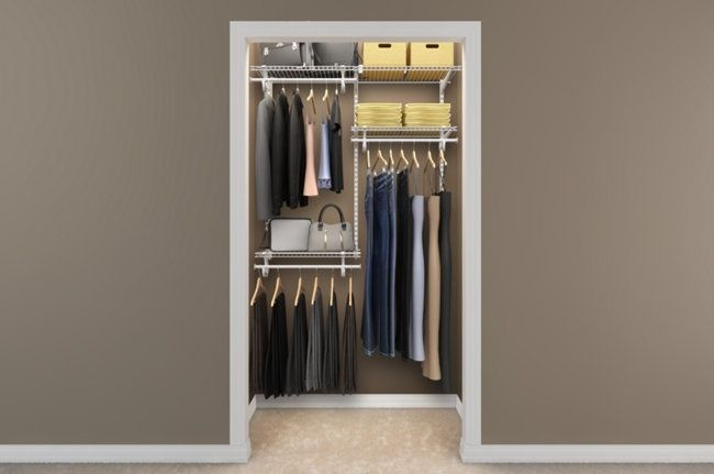 Good Layout For A Basic Closet That Formerly Had One Bar Across The Top Only Hannah Parker Home Closet Layout Small Closet Small Closet Organization