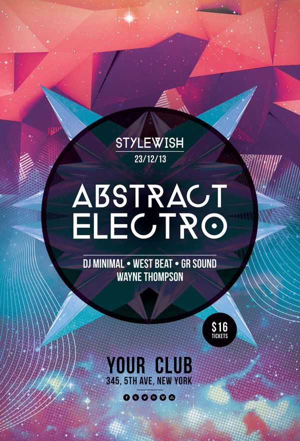 Abstract Electro Flyer – Electro Flyer