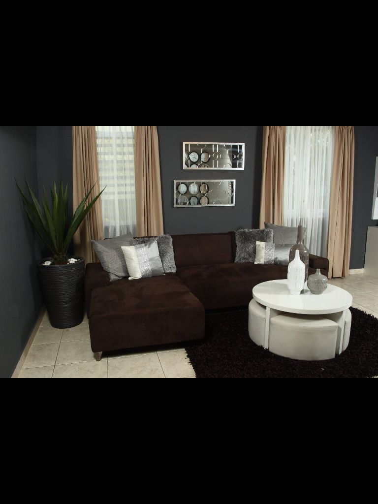 Gray And Brown With Images Brown Living Room Decor Brown