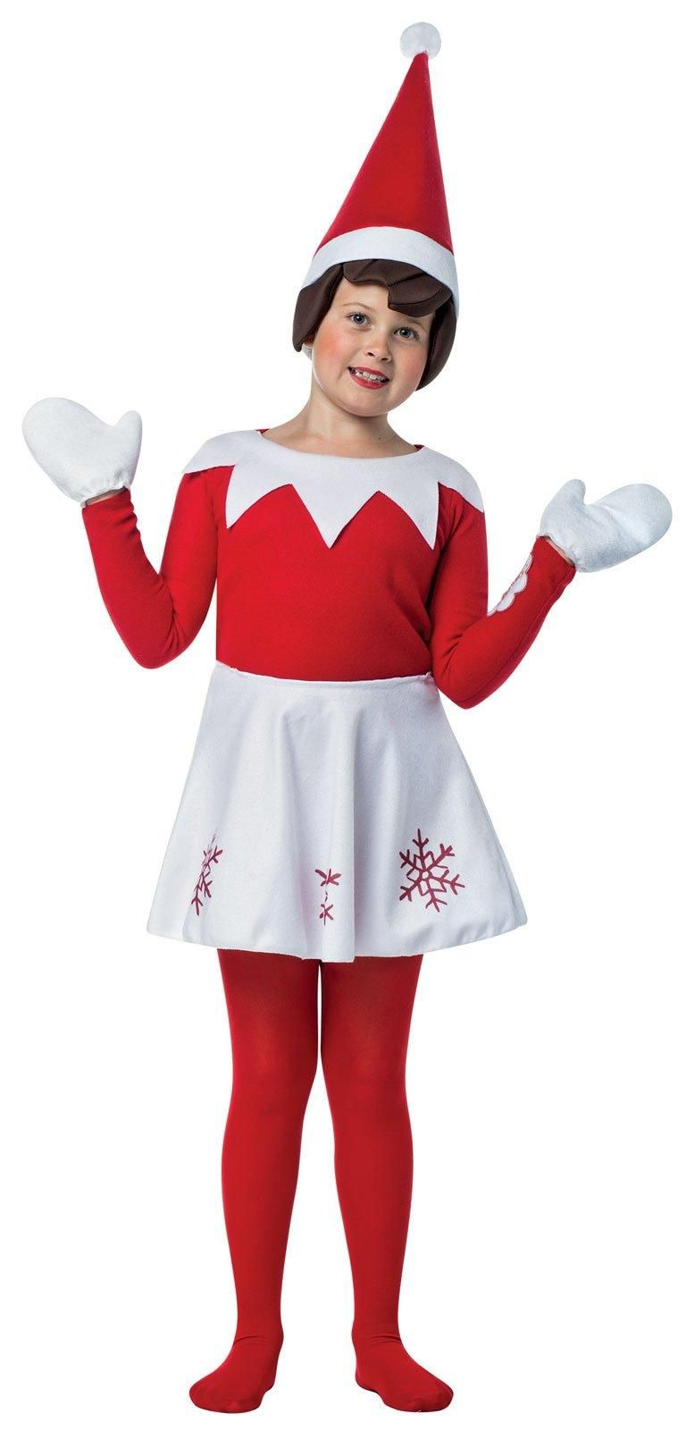 girls elf on the shelf dress costume from costumeexpress