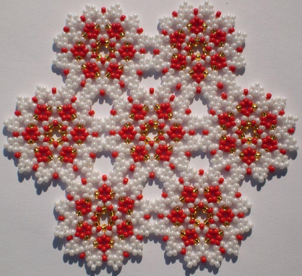 Схемы плетения бисером салфеток фото
