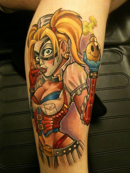 Harley Quinn Pin Up Girl Tattoo , Mat Lapping http