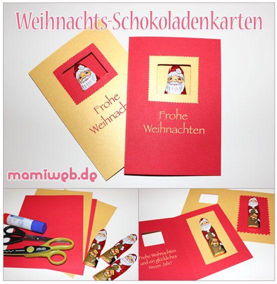 Mamiweb.de - Weihnachts-Schokoladenkarten
