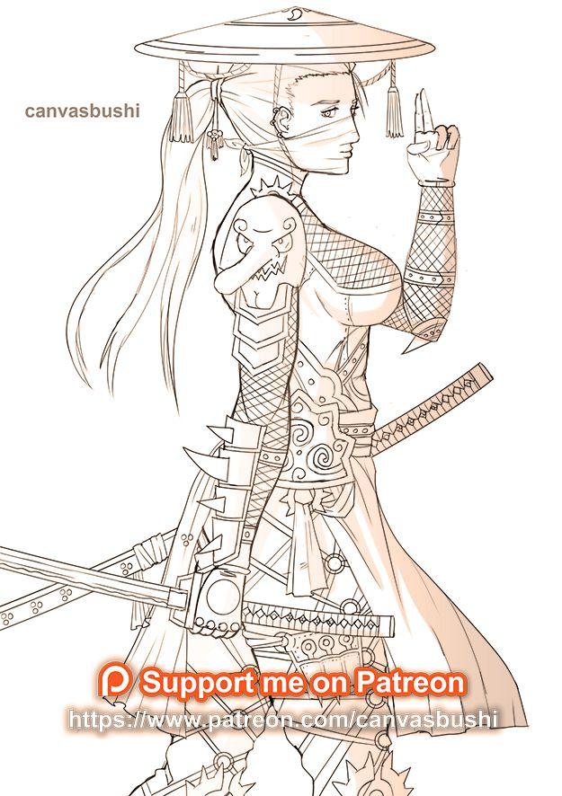 Ninja Girl Girl Drawing Ninja Girl Anime Ninja