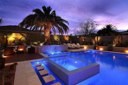 Love the pool & lighting