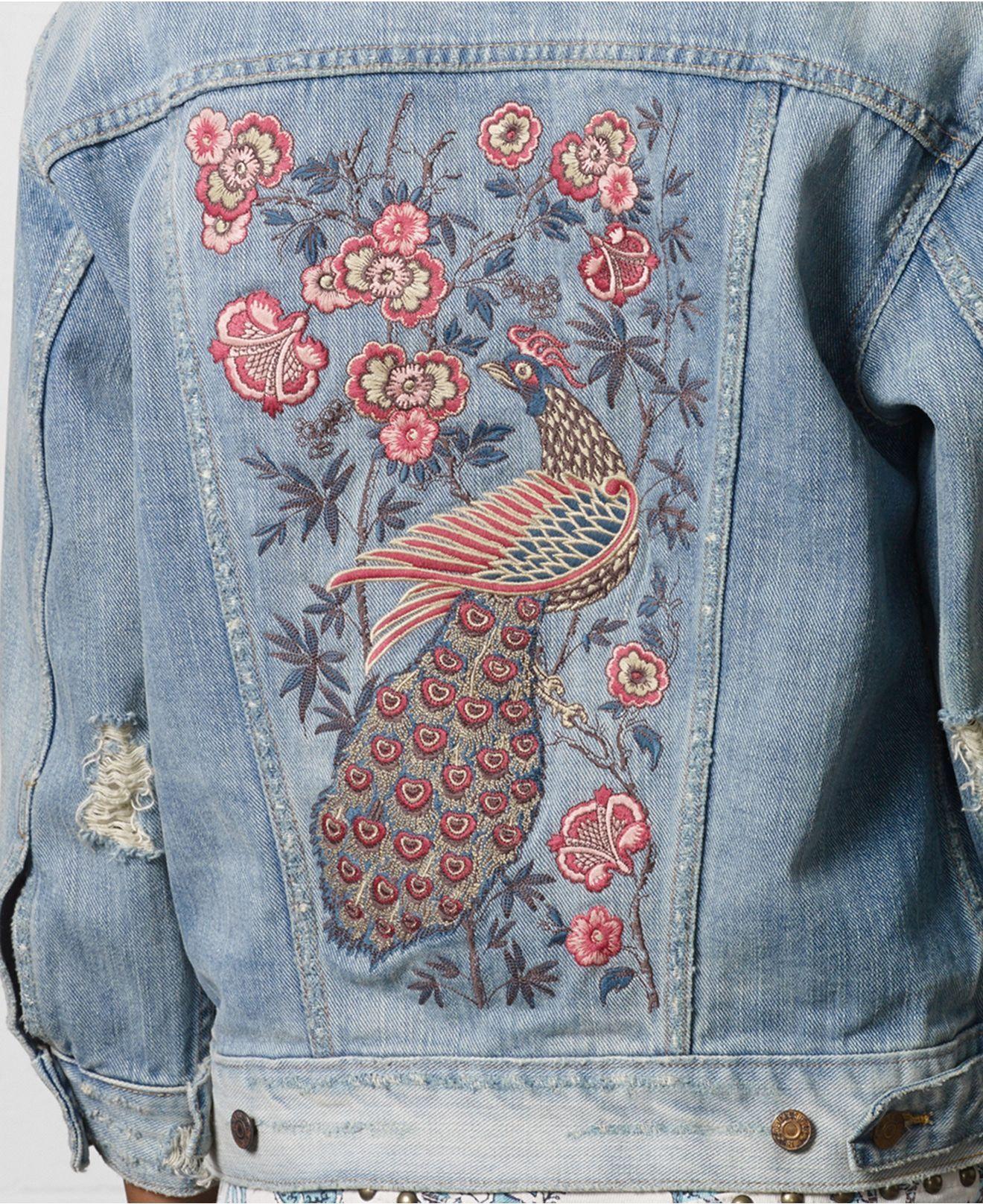 Denim supply ralph lauren destructed embroidered