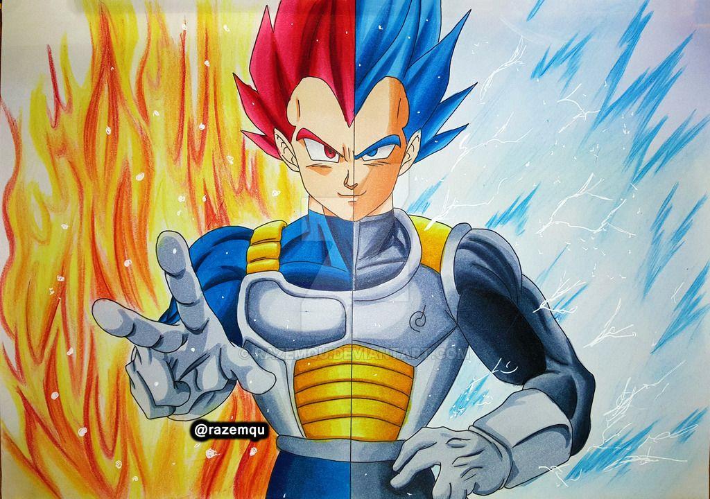 Vegeta Para Colorear Para Pin Para A On Para Dragon Ball Z: Super Saiyan Blue By Razemqu