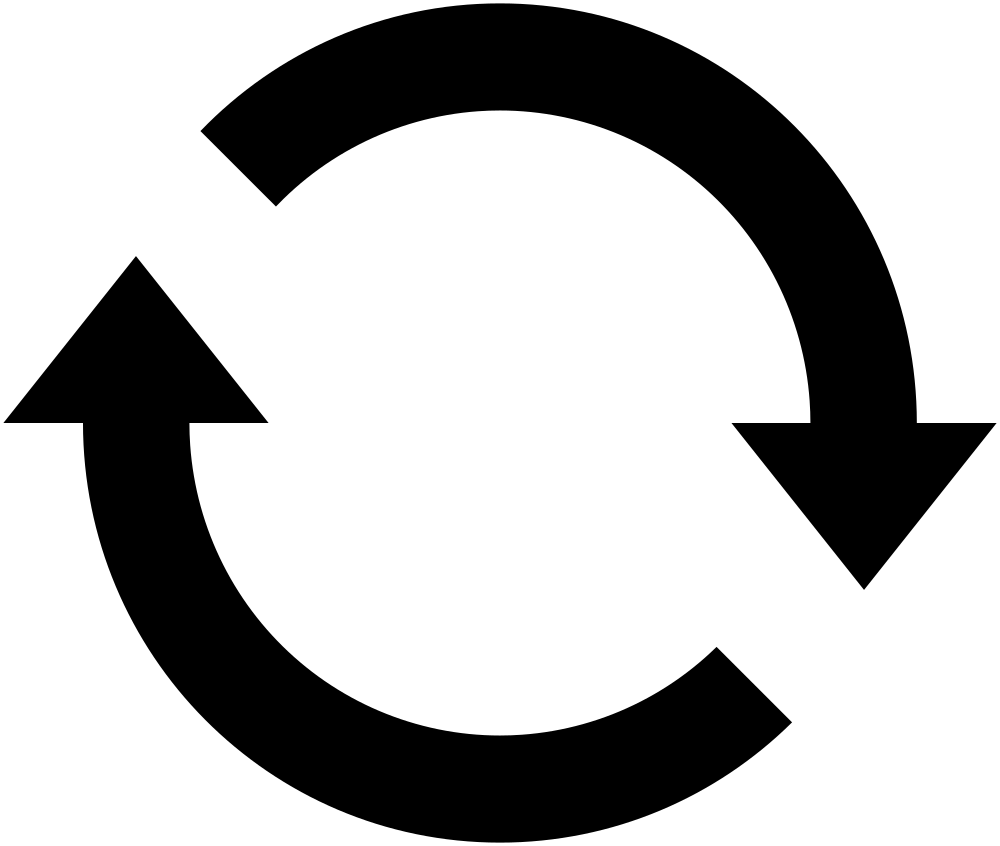 Flip Icon or Reload Icon Vector