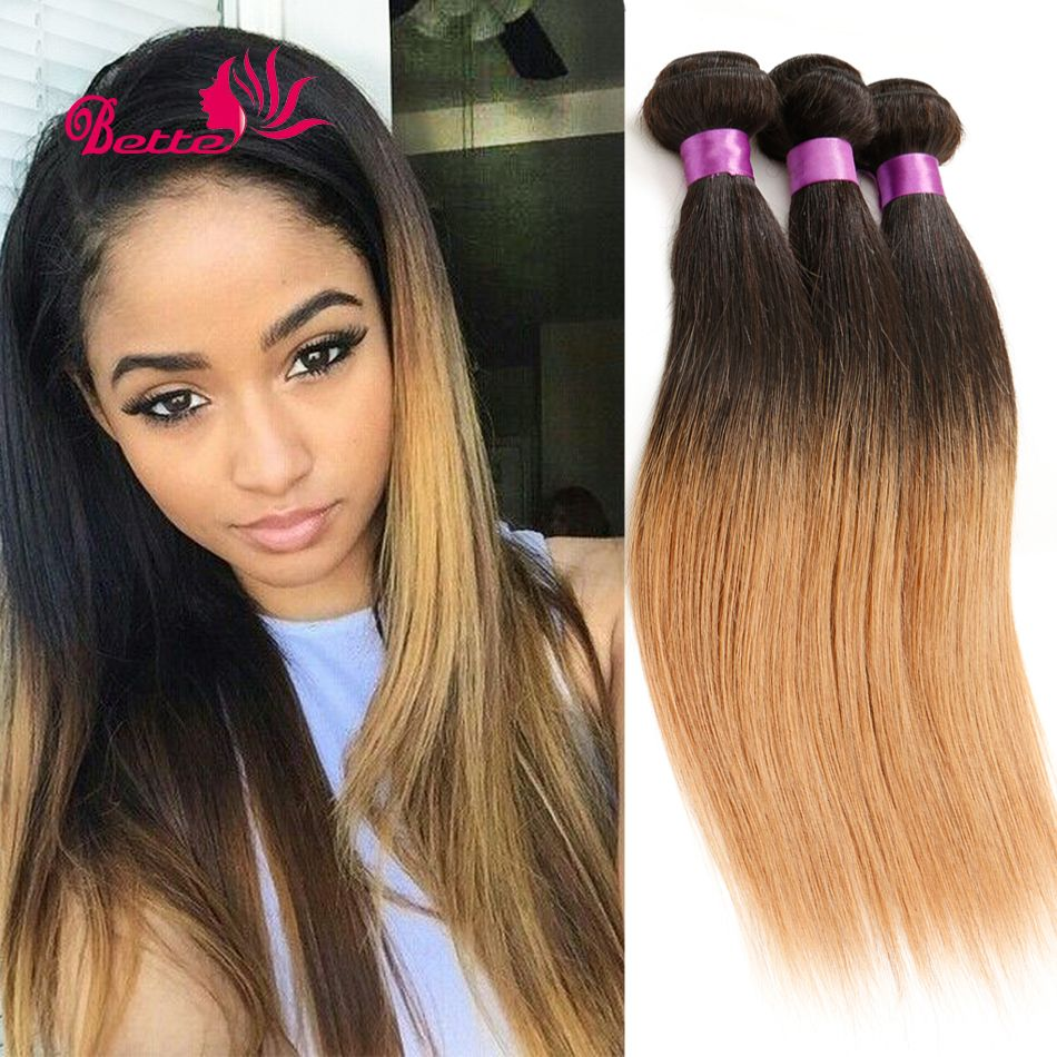 Ombre hair extensions peruvian virgin hair straight human hair ombre hair extensions peruvian virgin hair straight human hair weave 3pcs remy t1b27 natural pmusecretfo Gallery
