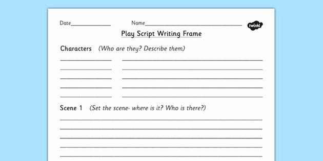 Stage Play Format Template Lovely Play For Kids Template Making Plays Play Scripts For Kids Script Writing Writing Templates