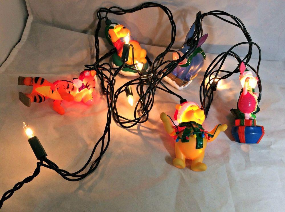 disney winnie the pooh string lights eeyore tigger piglet christmas winter snow ebay