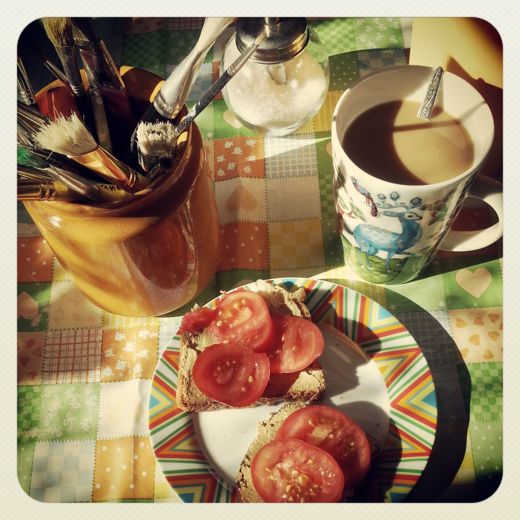 Artsy breakfast. Photo by mademoiselle MAYBEE. August 2013, Estonia.