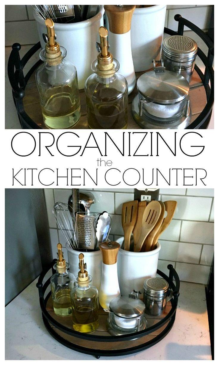 Organizing The Kitchen Counter Inspiration For Moms Easy Home Decor Kitchen Decor Diy Kitchen