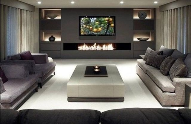 Pin By Clem Around The Corner On Cheminées Trendy Living Rooms Home Decor House Interior