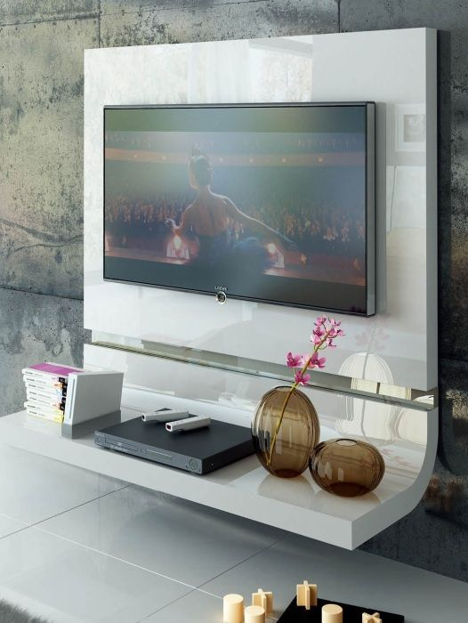 Off White Tv Meubel.Es Tv Panel White Lacquer Tv Unit Moder