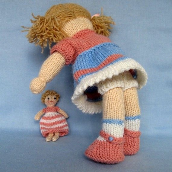 35aa4c76da6c6a Lulu and little doll knitting pattern - INSTANT DOWNLOAD -