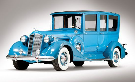1937 Packard Formal Limousine–bet it came off the line BLACK not blue though.