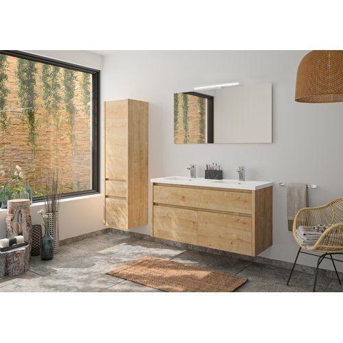 Hassell 1200 Mm Bathroom Furniture Suite With Mirror Ebern Designs Bathroom Furniture Shower Enclosure Doors Bath Front Panel