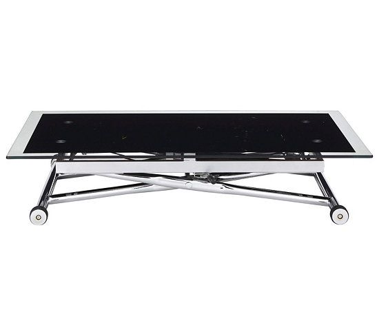 da806c07d5c31e Table basse relevable UP   DOWN 2 Verre et Chrome   Déco   Table ...