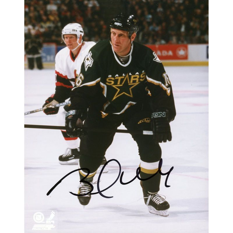 "Brett Hull Dallas Stars Fanatics Authentic Autographed 8"" x 10"" Player Skating Behind Photograph"
