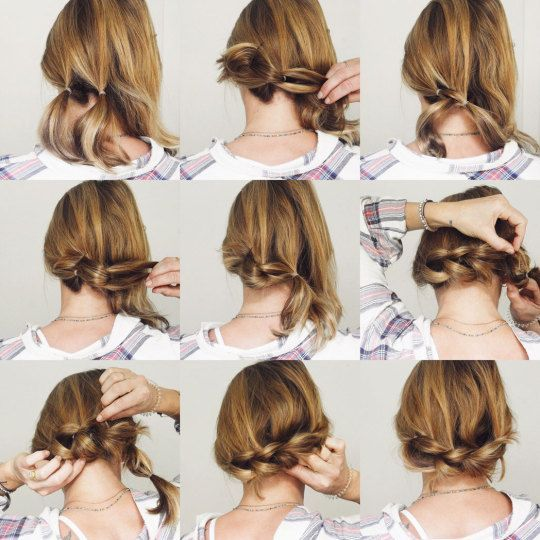 Low side pull through braid. With a lob. #lowsidebuns Low side pull through braid. With a lob. – Goldfish Kiss #lowsidebuns