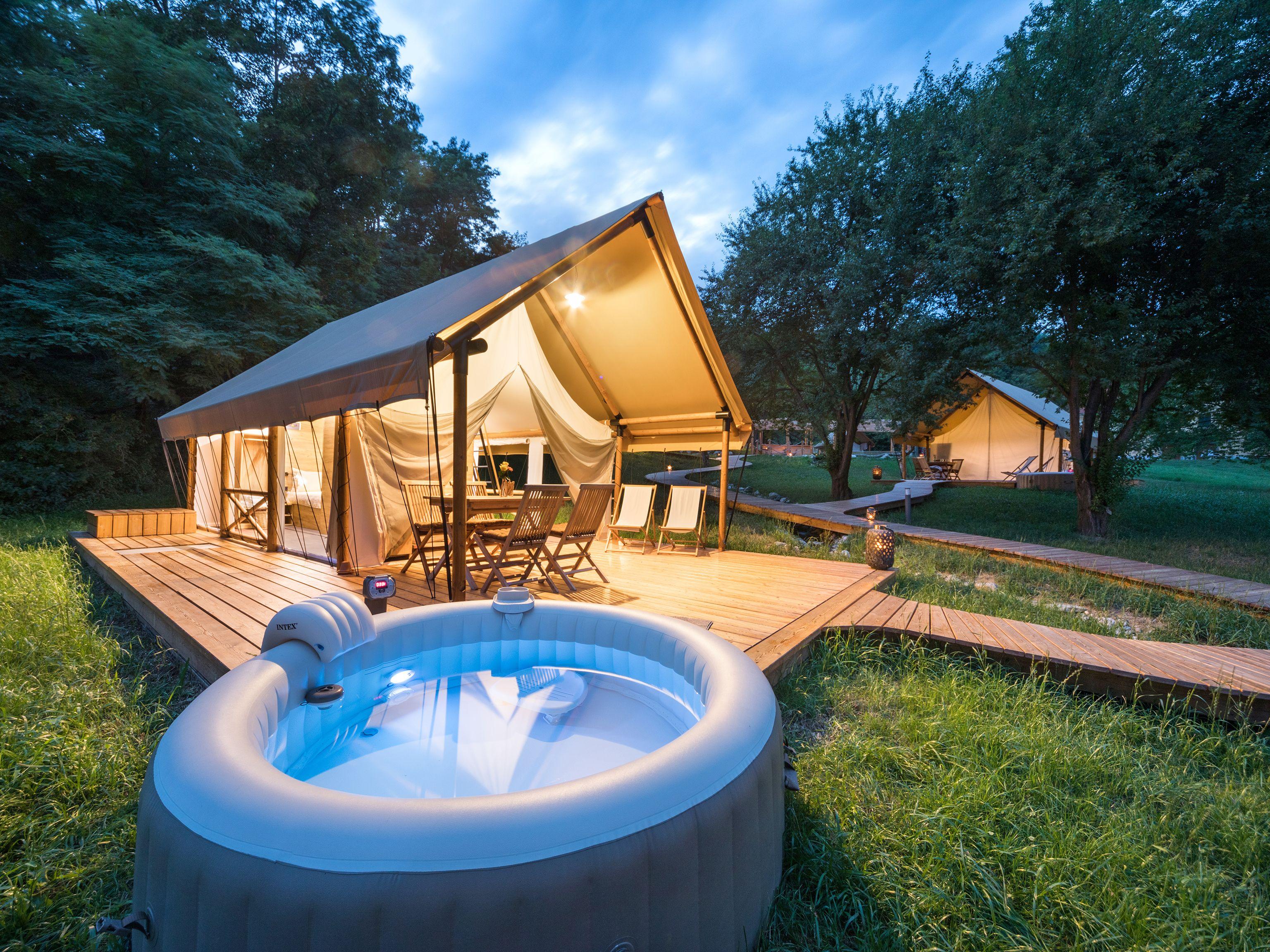 Glamorous Glamping Tent At Chateau Ramsak Glamping Resort In Slovenia Glamping Resorts Tent Glamping Luxury Glamping