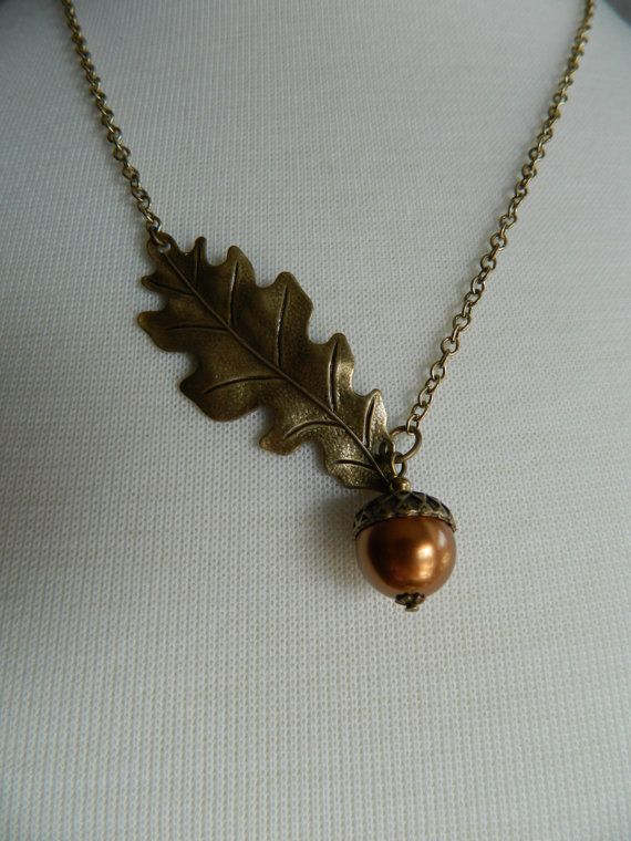 SIGNS OF AUTUMN  Oak Leaf and Acorn by ChangingSeasonsGifts, $31.00
