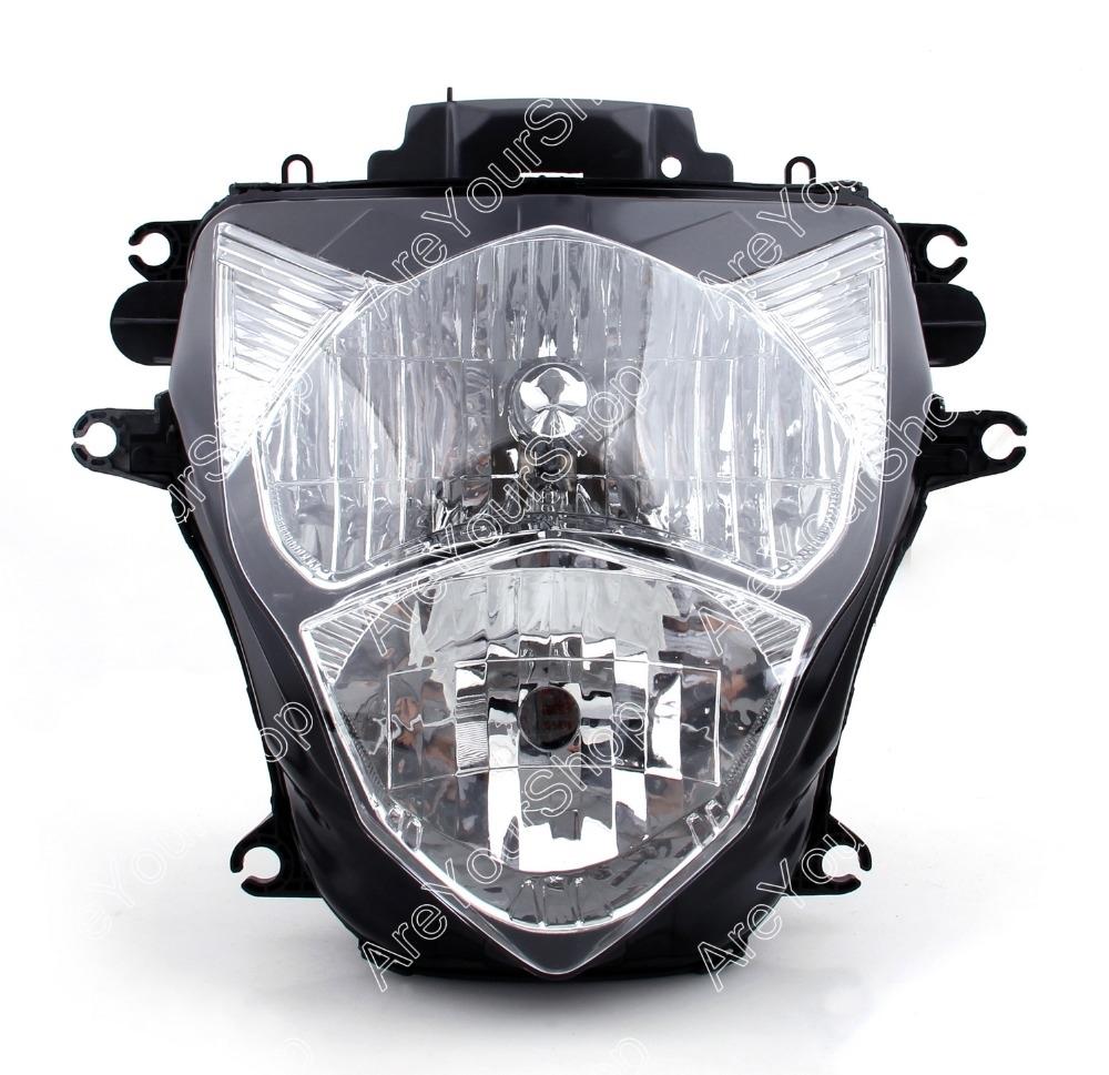 99.00$  Watch now - http://alivnc.worldwells.pw/go.php?t=32502636681 - Clear Universal Motorcycle Headlight Headlamp Replacement Driving Fog Spot Moto Head Light for Suzuki GSXR600 GSXR 750 2011-2012