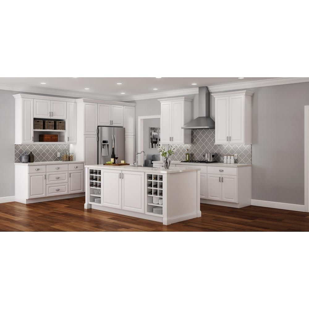 Hampton Assembled 21x30x12 in. Wall Kitchen Cabinet in Satin White ...