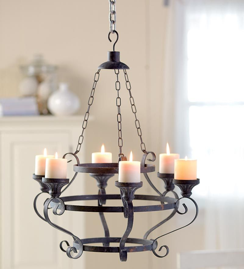 Iron Pillar Candle Holder Chandelier 87323 Iron Pillar – Candle Chandelier Outdoor