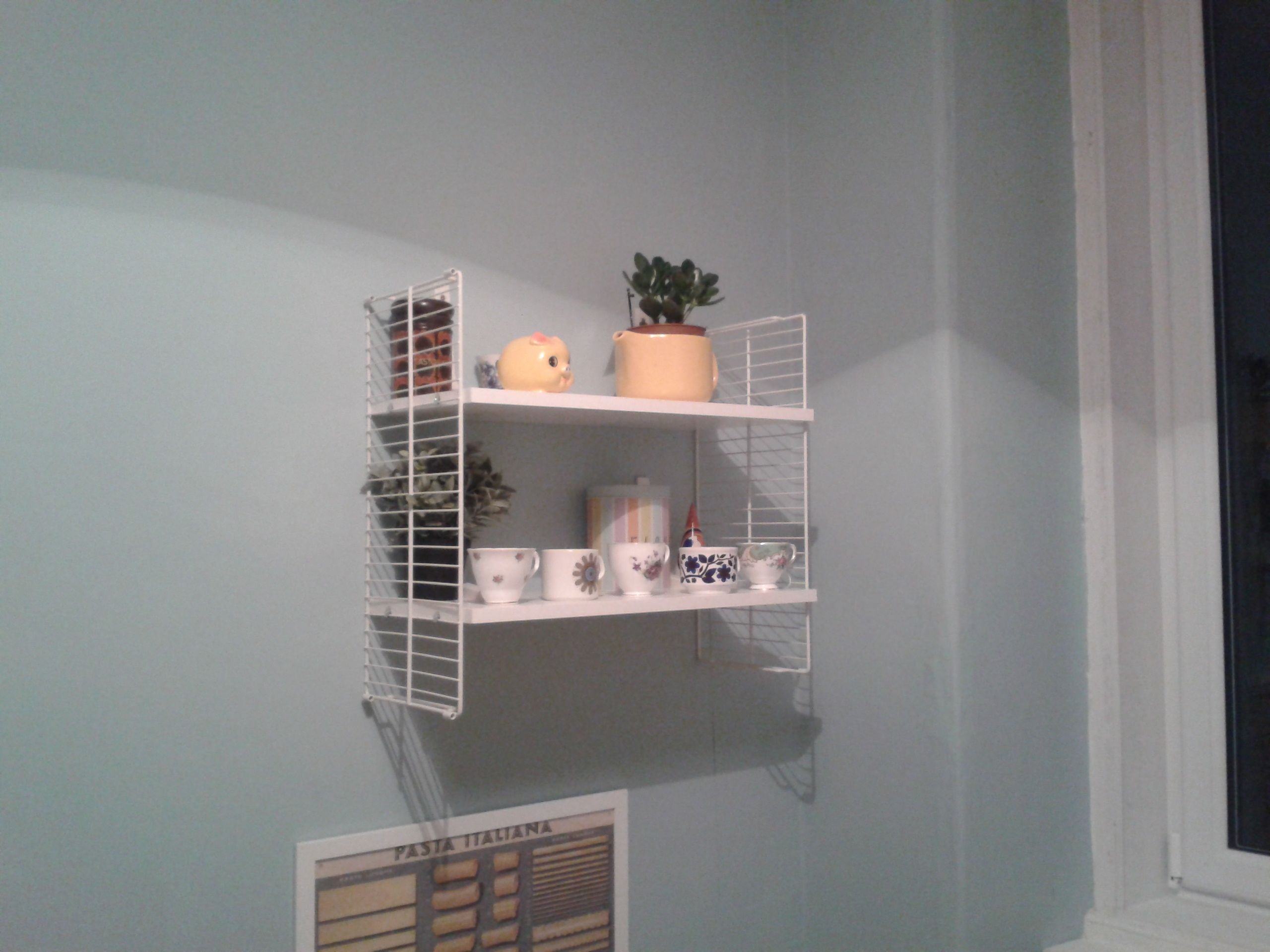 Faux retro diy string shelving ikea hack made from shelves and a