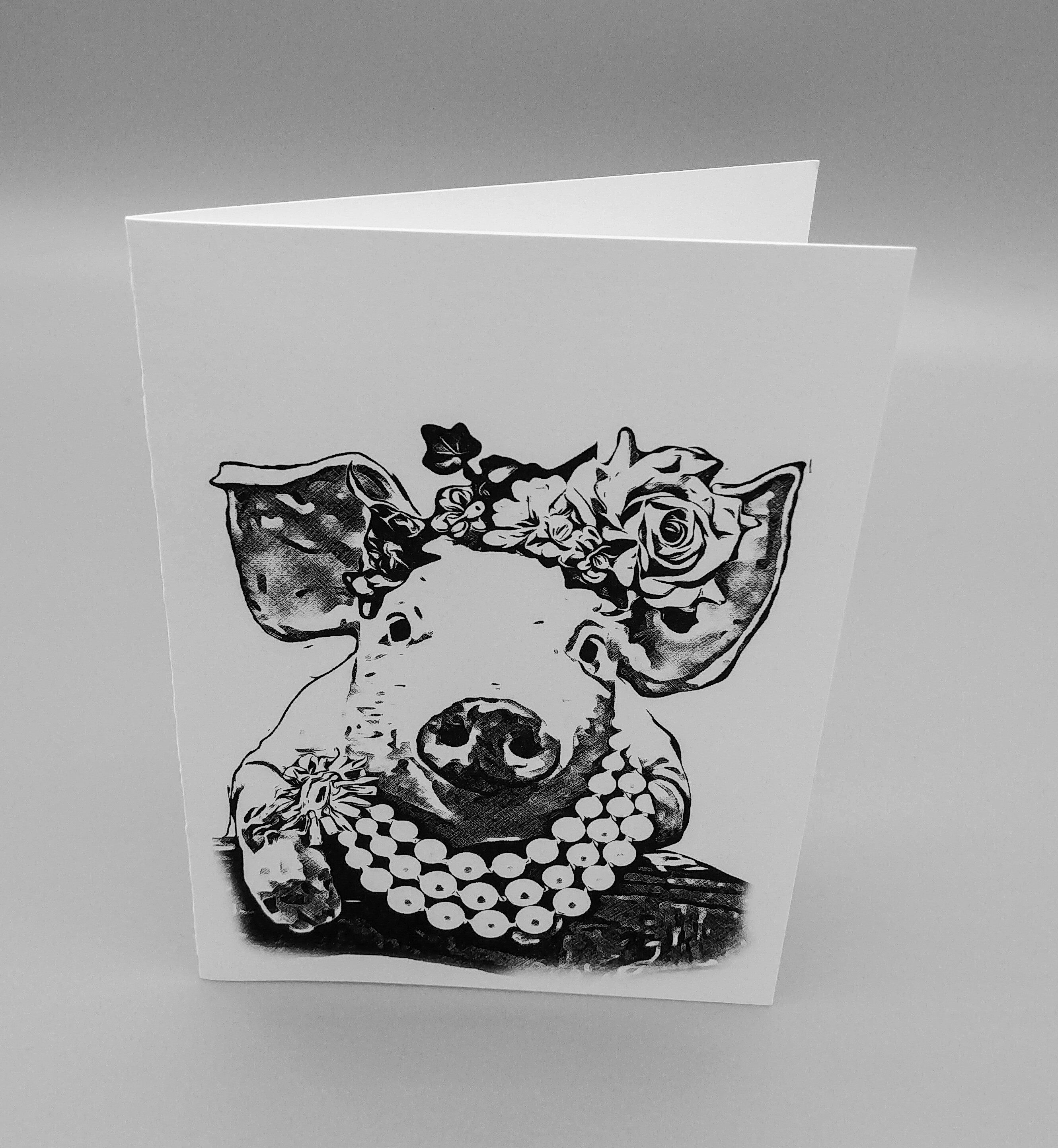 Pig Blank Note Cards, Thank You Cards, Gardener Gift, Gift