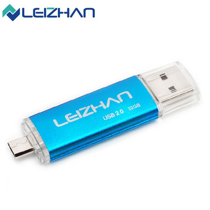 16GB OTG USB Flash Pen Drive Memory Sticks Dual Port For Android Smart Phone