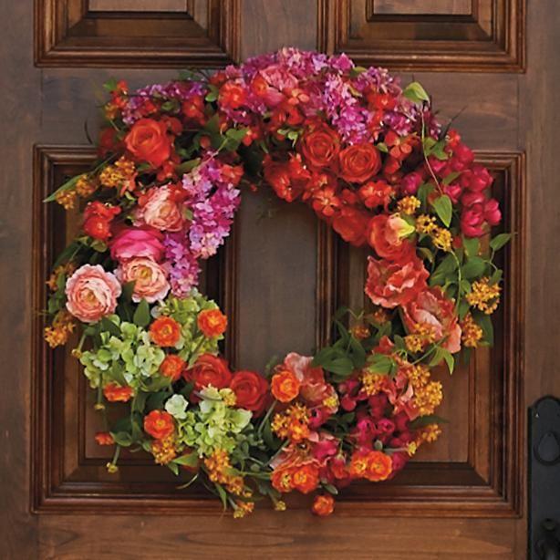 Emmerson Fields Wreath Wreaths Silk Florals Wreath Storage