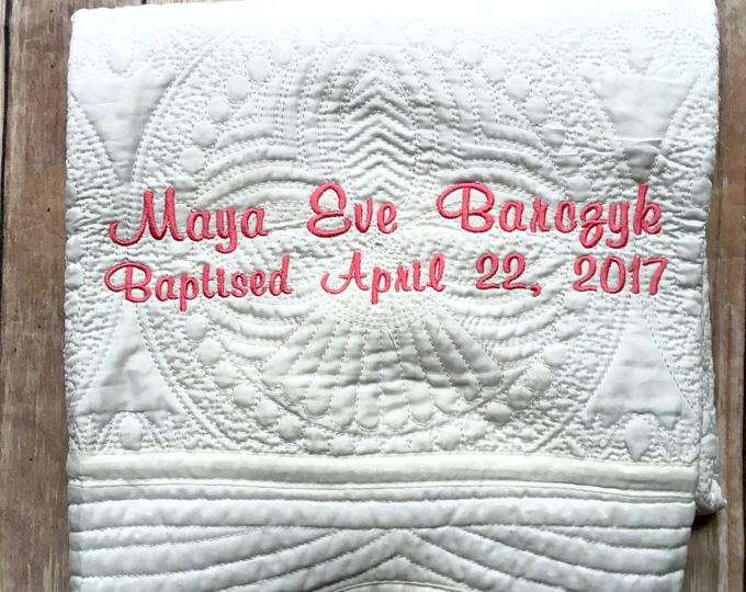 Monogrammed baby quilt personalized baby blanket christening gift monogrammed baby quilt personalized baby blanket christening gift baptism baby gift baptism gift personalized baby quilt christening pinterest negle Choice Image