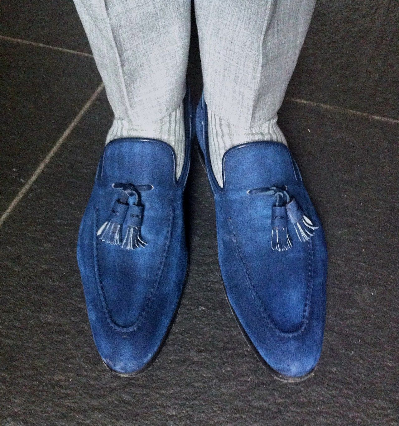 classic tassel loafers - Blue Santoni oVpHYb7n3O