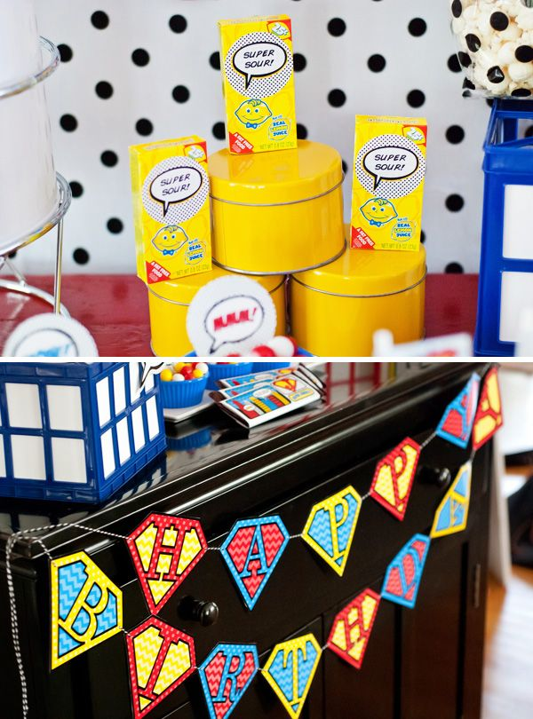 {Budget Friendly} Comic Book Style Super Hero Party #partybudgeting