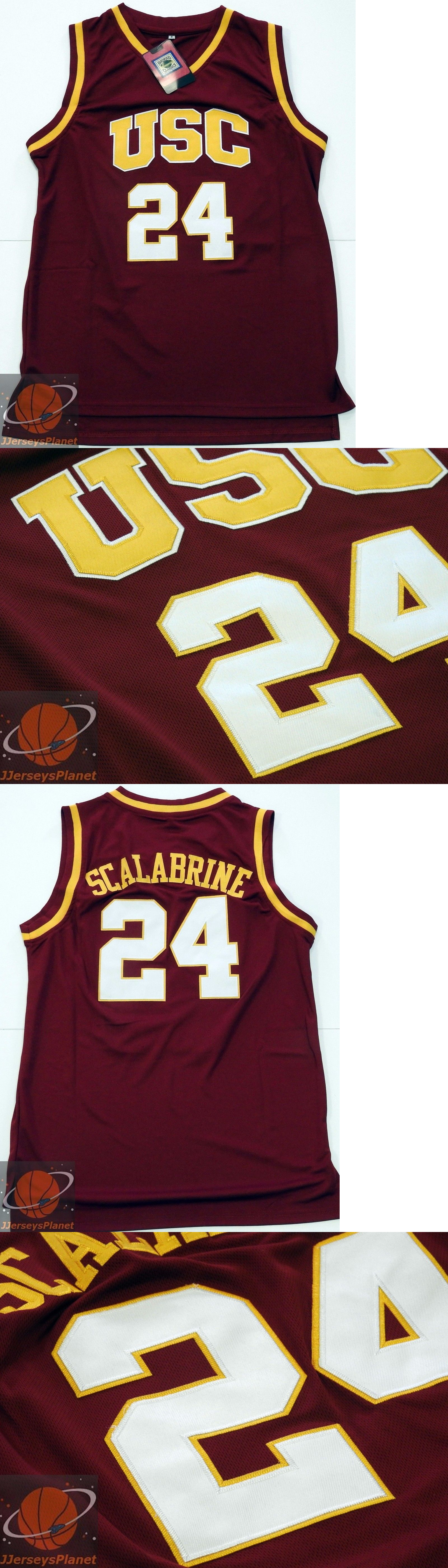 084d1ae1fa7 ... T-Shirt Basketball-NBA 24442 Ncaa Throwback Basketball Jersey Brian  Scalabrine 24 Usc Trojans Red ...