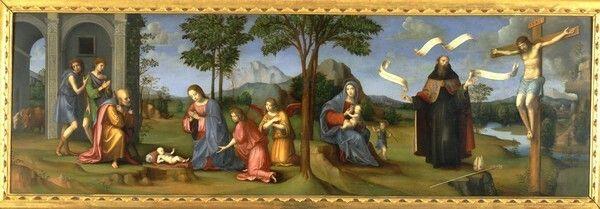 Visione di Sant'Agostino 1508.  Pinacoteca Nazionale di Bologna