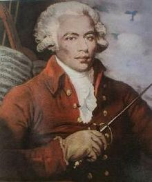 """Joseph Bo(u)logne, Chevalier de Saint-George (sometimes erroneously spelled Saint-Georges) (December 25, 1745 – June 10, 1799) was an important figure in the Paris musical scene in the second half of the 18th century as composer, conductor, and violinist. Prior to the revolution in France, he was also famous as a swordsman and equestrian. Known as the """"black Mozart""""[1] he was one of the earliest musicians of the European classical type known to have African ancestry."""