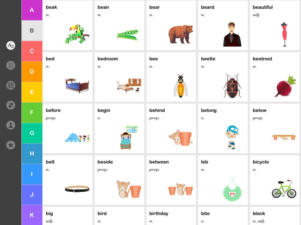 Kids Words Vocabulary Words English Words