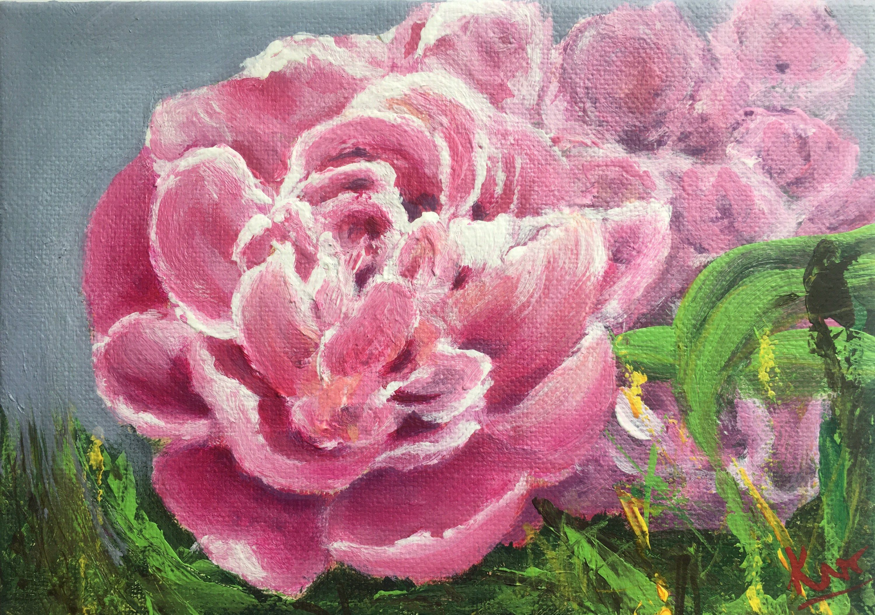 Roses Acrylic painting in impressionistic style by Komal Wadhwa