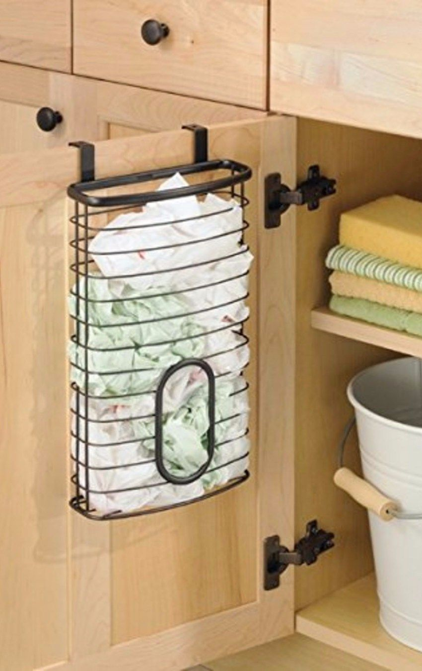 Grocery Bag Storage Ideas For Kitchens. Creative Storage Solutions For  Plastic Grocery Bags To Declutter And Organize The Kitchen. Smart Storage  Idea!