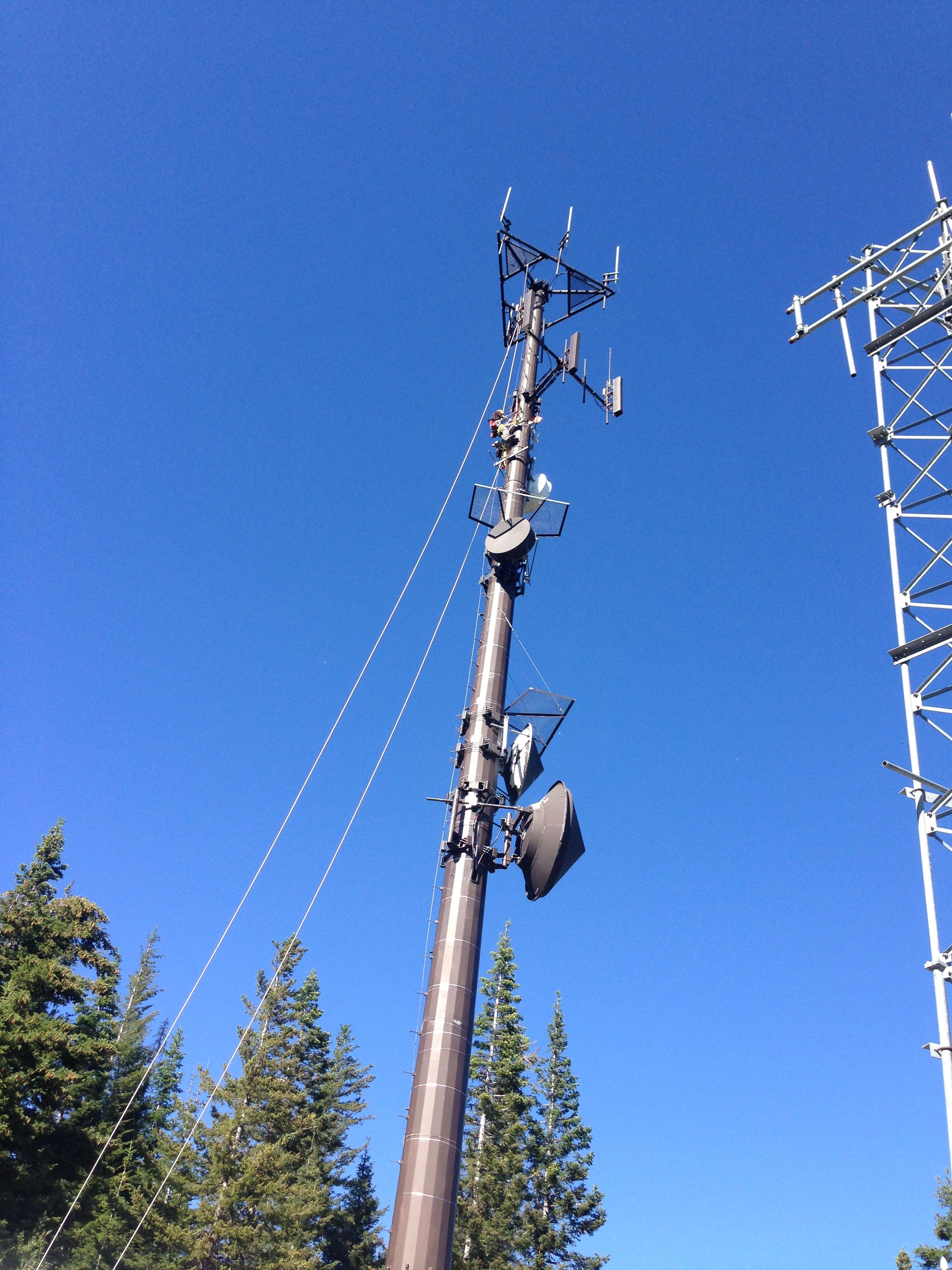 Monopole cell tower