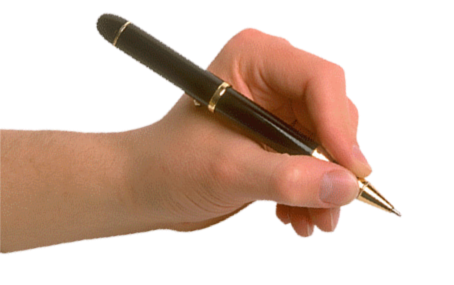 Hand Holding Pen Png 454 285 Pen Free Pen Body Reference