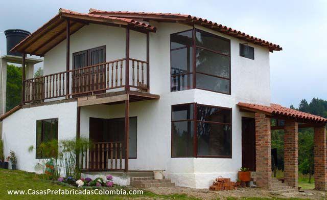 Casa prefabricada campestre en colombia casas prefabricadas pinterest house bamboo house - Casa prefabricada diseno ...