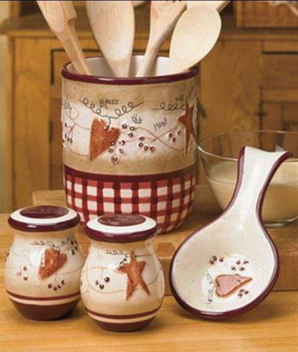 Country Hearts Stars Linda Spivey Kitchen Decor Images Primitive Kitchen Decor