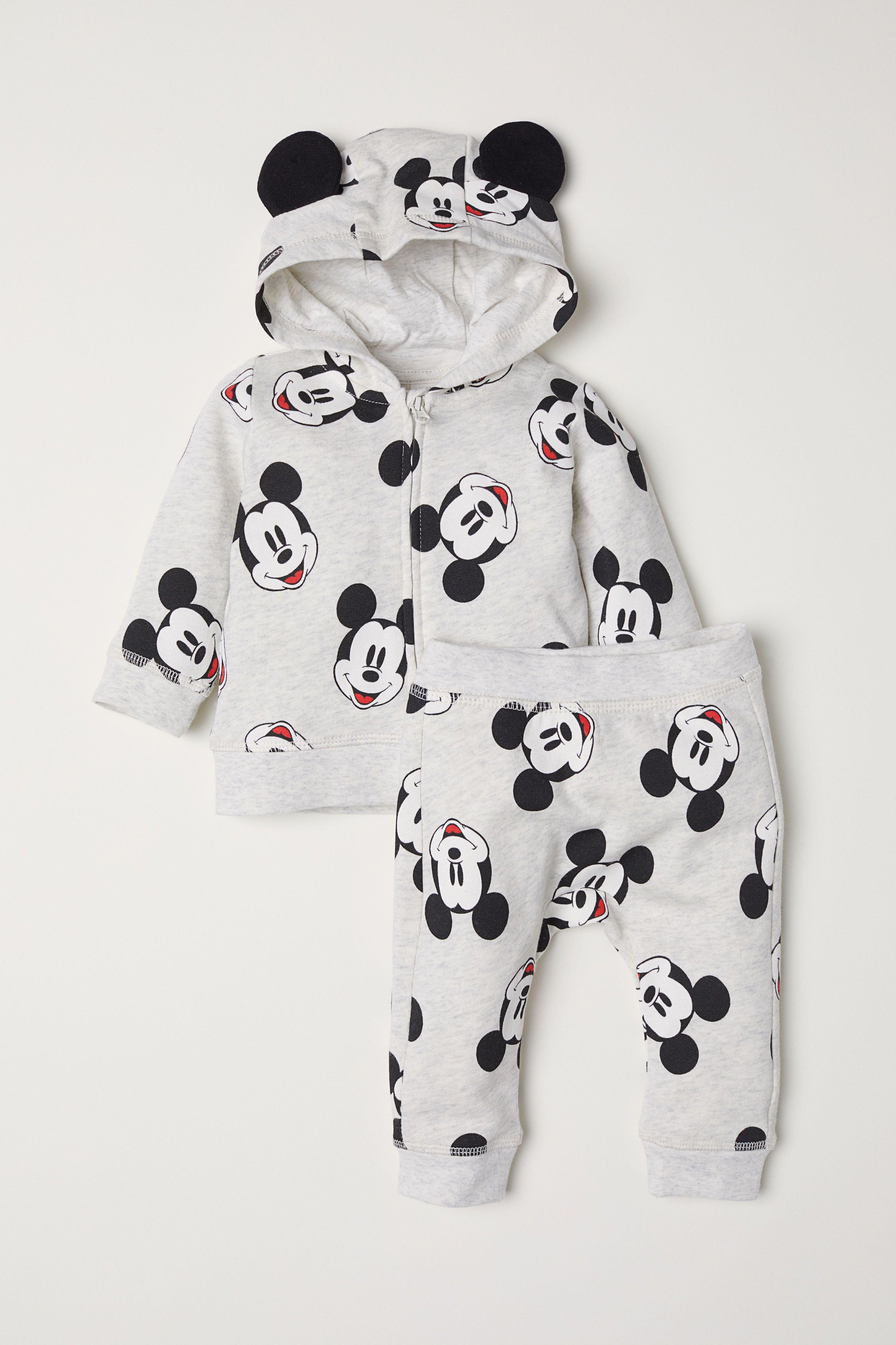 c83354c917f2 Kapüşonlu Ceket ve Pantolon - Açık gri kırçıllı Mickey Mouse -